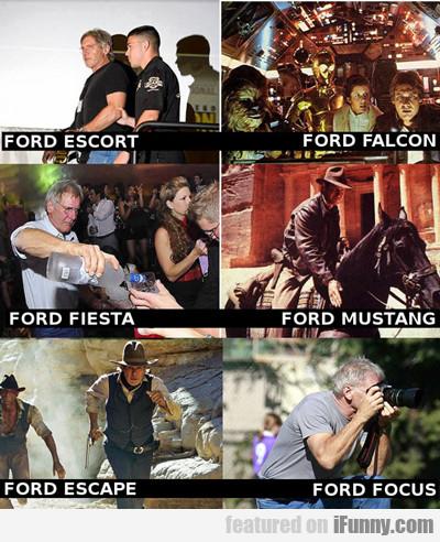 Ford Escort, Ford Falcon, Ford Fiesta...