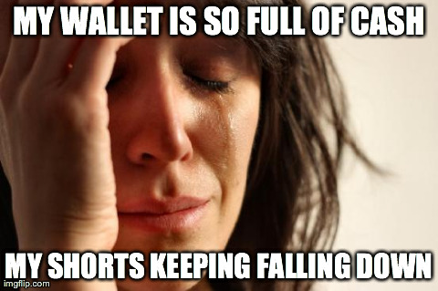 This thought crossed my mind after pay day yesterday...