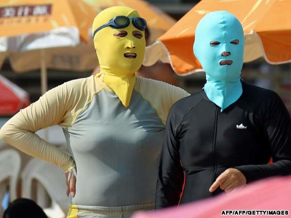 8.) Facekini: Facekini is a bikini for your face. It protects you from harmful UV rays AND you can give nightmares to innocent children.