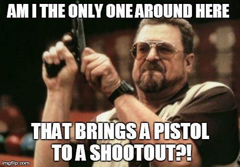 Pistols in Gunfights?