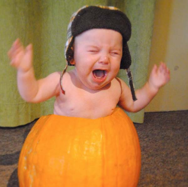 21.) Seriously, stop putting your babies in pumpkins.