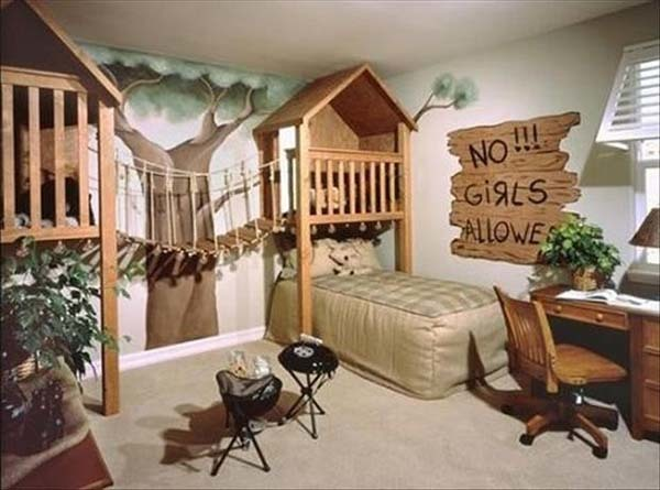 19.) The perfect hangout for little boys.