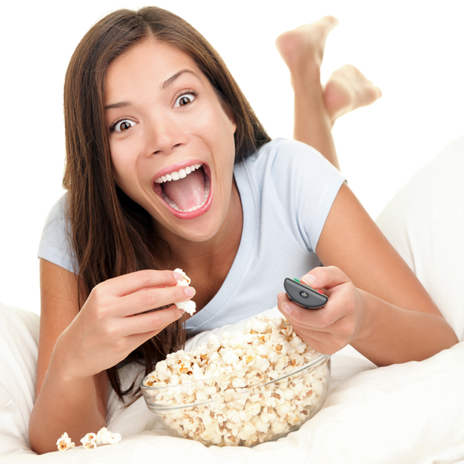 8.) I can enjoy popcorn when I see a movie though, right? I wouldn't if I were you! Popcorn can get stuck in your teeth and cause infections. Also, biting down on a kernel can crack your teeth if you susceptible to that kind of damage.