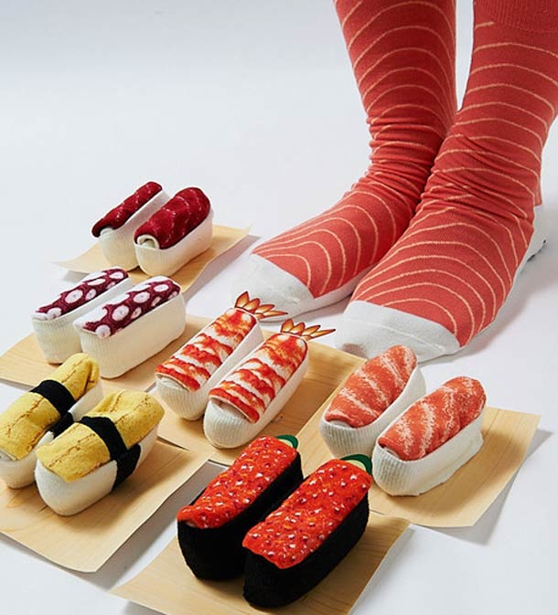 """Ladies and gentlemen, meet the world's first line of """"sushi socks""""."""