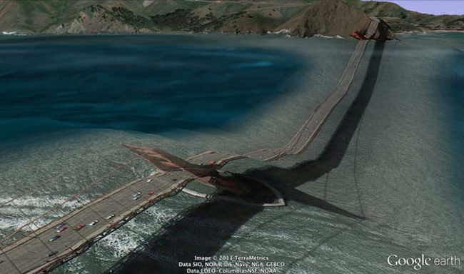 3.) This one is really bad. Looks like the Golden Gate Bridge is collapsing.