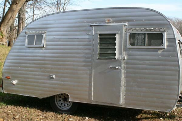 This is what the camper looked like when they bought it.