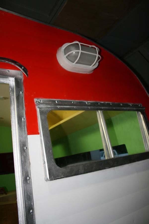 A new door, windows and external light was added.