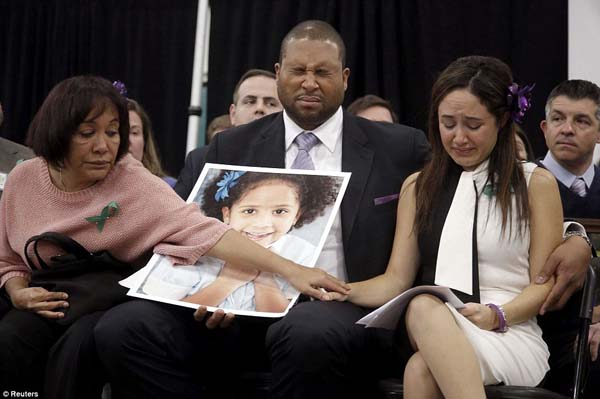 Nelba Greene, her husband Jimmy and her mother Elba Marquez mourn the loss of daughter Ana Grace who was killed during the shooting in Newtown, Connecticut.