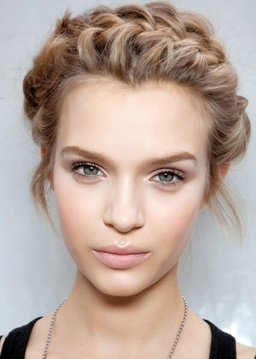 1) Use Make Up - Obviously, don't cake it on, but a little make up will make your face glow rather than shine.