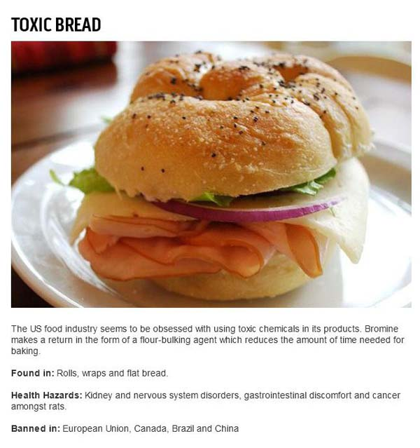8.) The bread you're eating is awful.