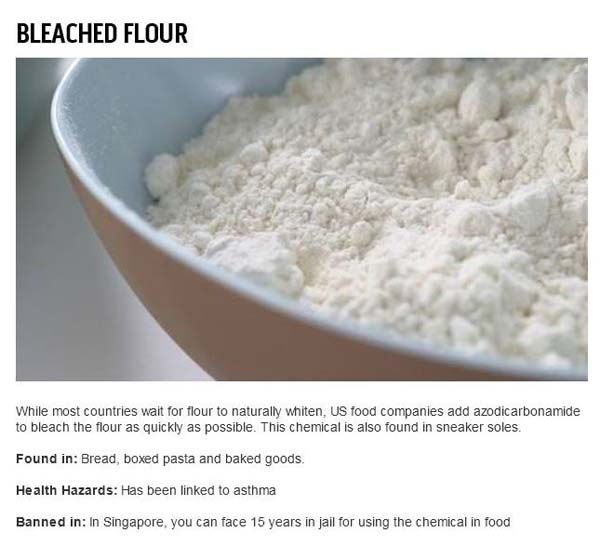 9.) Bleached flour can't possibly be tasty.